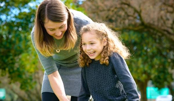 Chloe with Mum