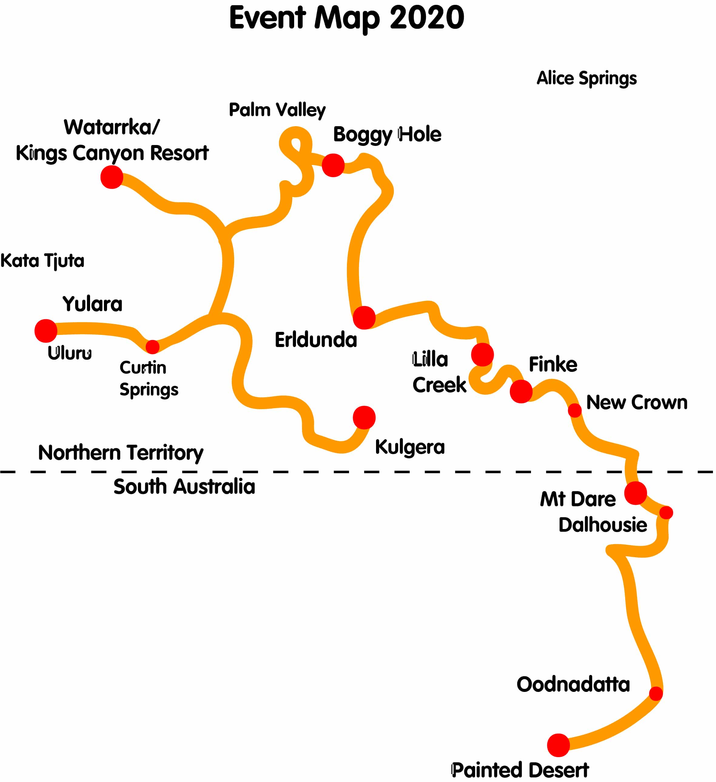4WD Route Map 2020