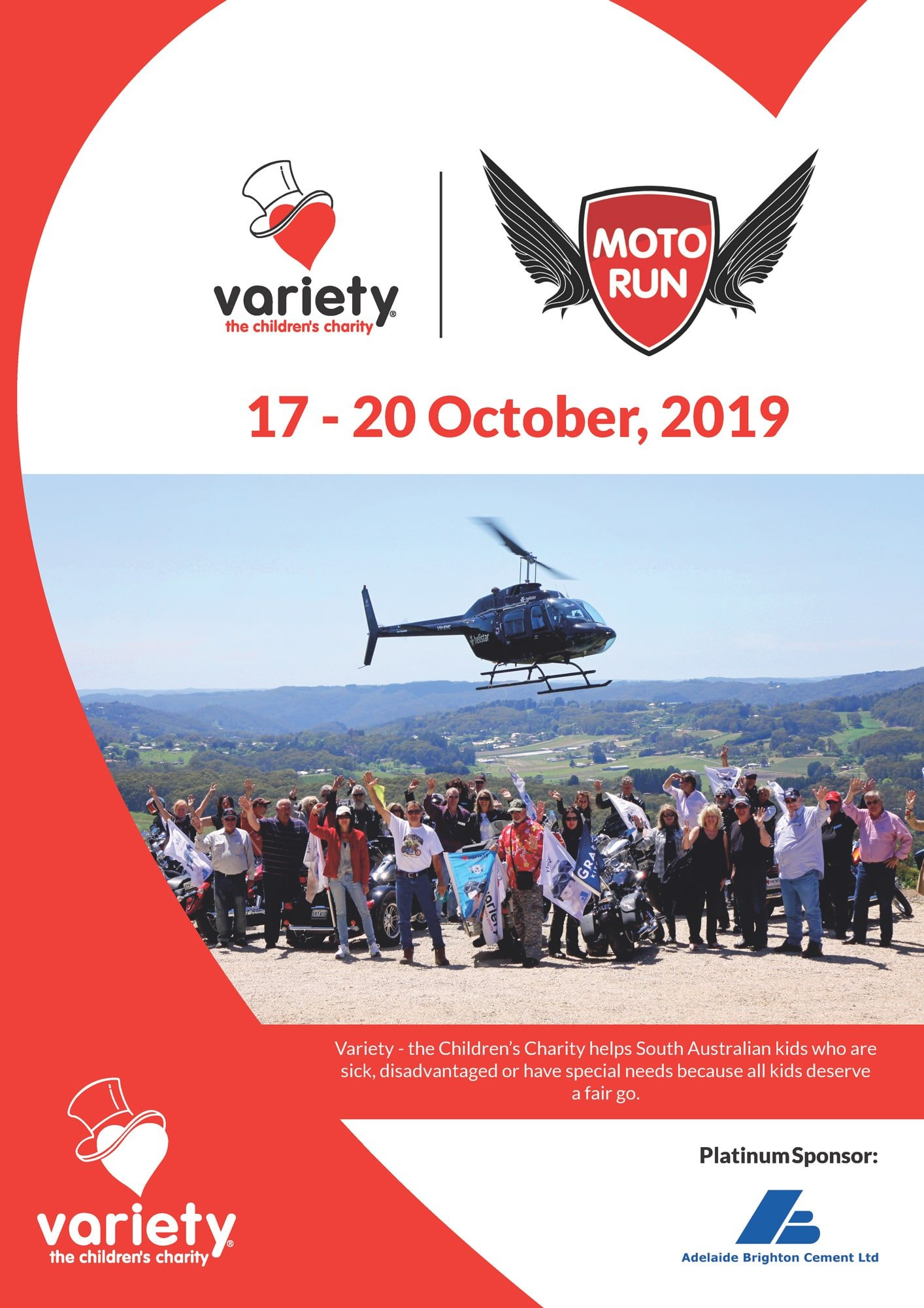 Variety Moto Run (2019) Brochure Cover