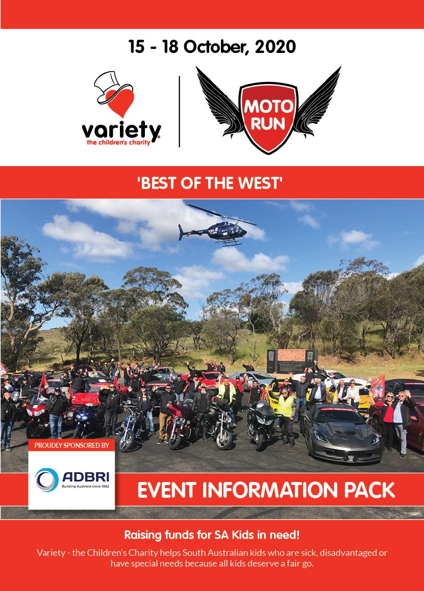 Variety Moto Run - Information Pack (2020) - Cover